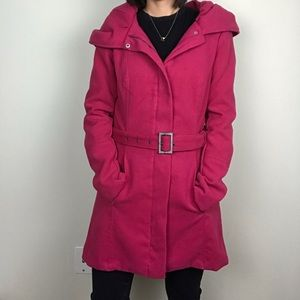 JOUJOU Long Pink Winter Coat (trench coat)